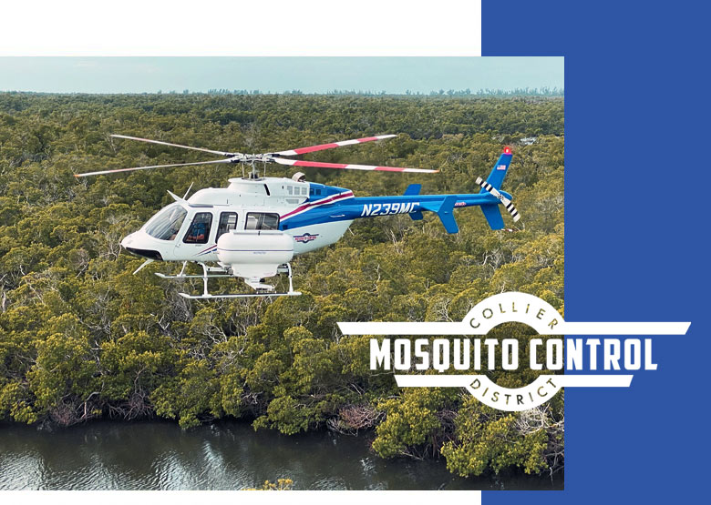 CMCD Airplane Treatment of Mosquitoes | Collier Mosquito Control District