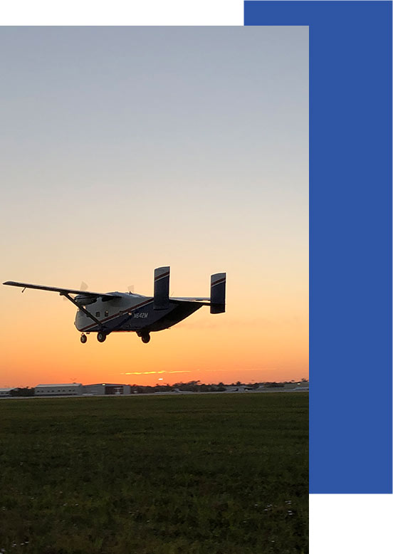 Collier Mosquito Control Treatment plane at sunset | Mosquito Control for Collier County