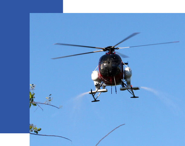 The District is equipped to distribute larval control by air | Collier Mosquito Control District