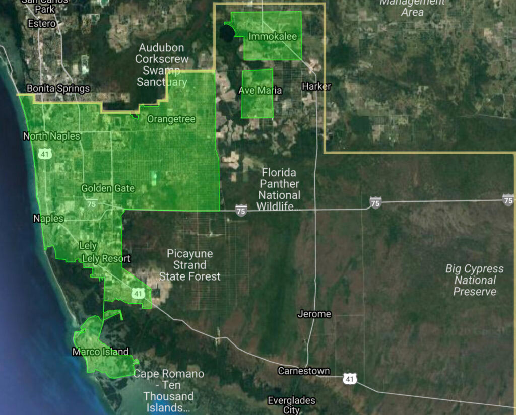 The Collier Mosquito Control District Boundaries Map | CMCD The District
